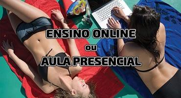 Aula Presencial ou Ensino Online no mergulho