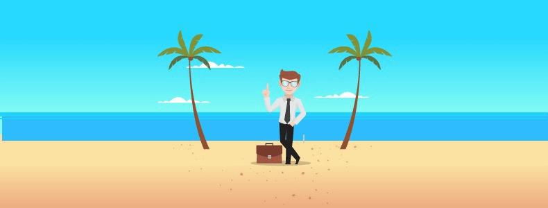 Faça da praia o seu escritório