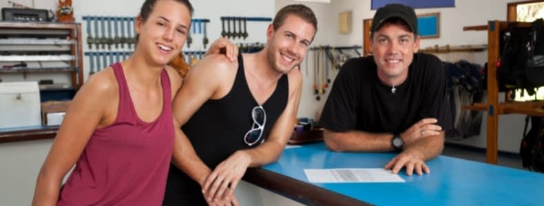 Oportunidades para profissionais de mergulho