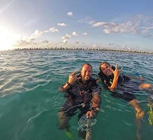A vida do instrutor de mergulho