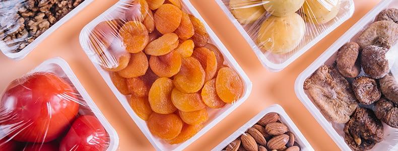 Consumo de plástico através de frutas embaladas