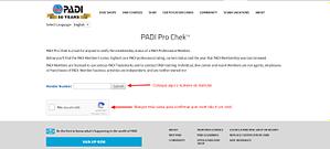 Pro Chek PADI